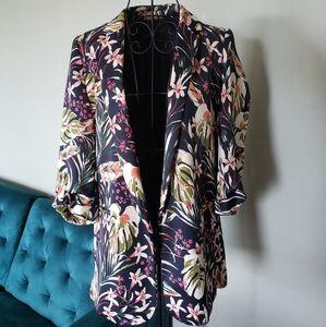 Zara Basics silky botanical blazer